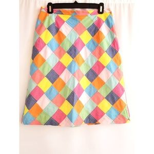 Brooks Brothers Size 6 Patchwork Skirt